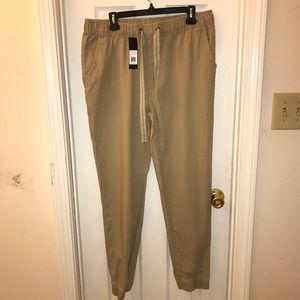 Men's Khaki Joggers Size XL